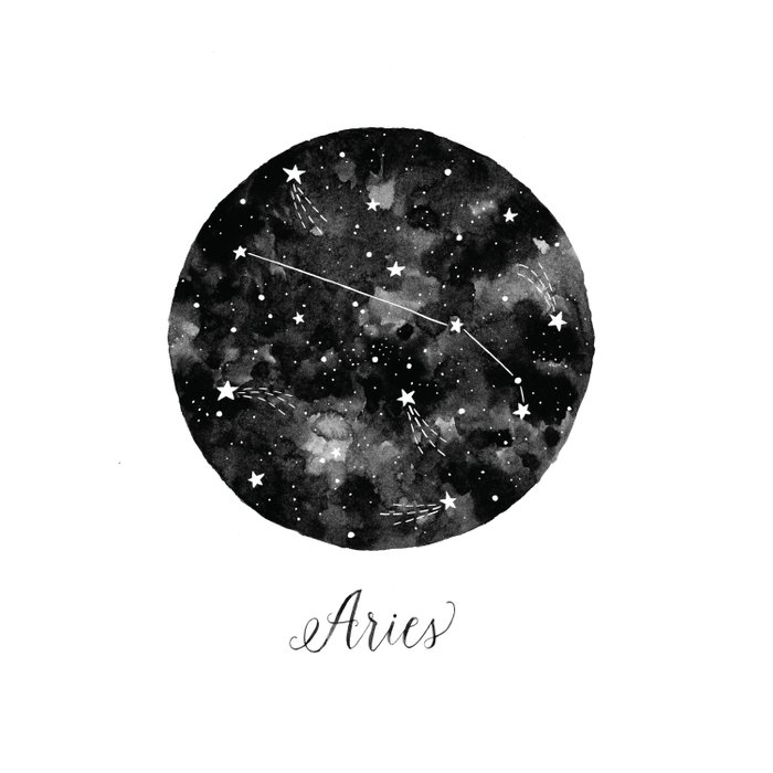 Aries Constellation Duvet Cover