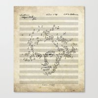 beethoven Canvas Prints featuring Beethoven by bananabread