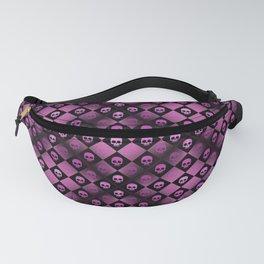 Pink Checkered Skulls Fanny Pack