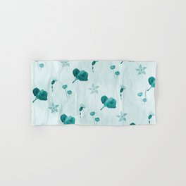 Turquoise flower pattern Hand & Bath Towel