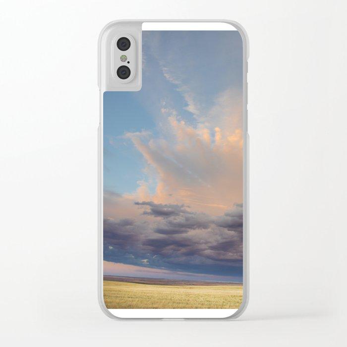 Sky Splash Clear iPhone Case