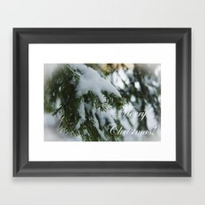 Merry Christmas and Happy New Year! Framed Art Print