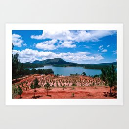 Magic Lake of Central Highland in Vietnam Art Print