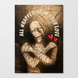 Monster Love Valentine's - All Wrapped Up In Your Love Canvas Print
