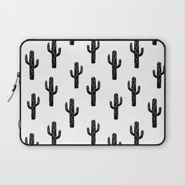 Cactus linocut pattern black and white minimal desert southwest socal joshua tree Laptop Sleeve