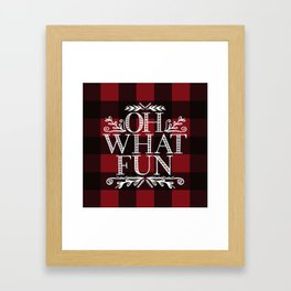 Oh What Fun Red Framed Art Print