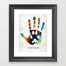 Rainbow Bridge Art - Never Forgotten - By Sharon Cummings Framed Art Print
