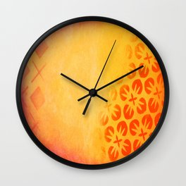 Firery Flowering Wall Clock