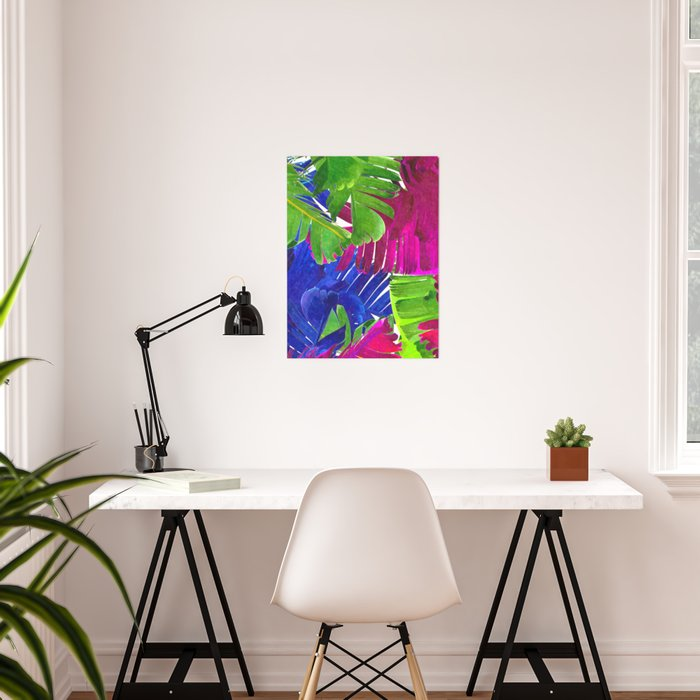 Colorful tropical leaves Poster