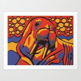 Benny the Walrus Art Print