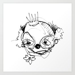 Clowns in Crowns #1 Art Print