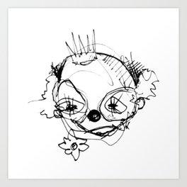 Clowns in Crowns #1 Art Print