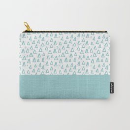 Triangles Mint Carry-All Pouch