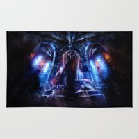 castlevania Area & Throw Rugs featuring Castlevania: Vampire Variations- Dracula by LightningArts