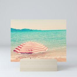 Beach umbrella Mini Art Print
