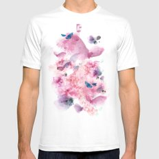 Life in colour White Mens Fitted Tee MEDIUM
