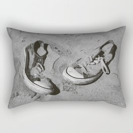 Sand in Your Shoes - Monochrome Rectangular Pillow