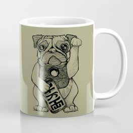 Lucky Pug [grey] Coffee Mug