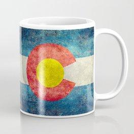 Grungy Colorado Flag Coffee Mug