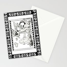 Rock-hunting dragoness (fantasy creatures) Stationery Cards
