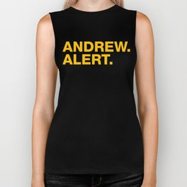 Andrew. Alert. Biker Tank