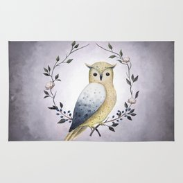 A Long Eared Owl On A Laurel Rug