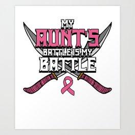 Breast Cancer Awareness Art For Warrior Women Light Dark Art Print