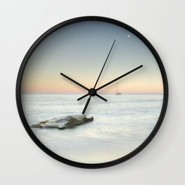 SuperMoon At Plomo Beach. Summer dreams Wall Clock