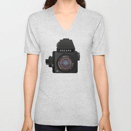 Escape Camera, medium format Unisex V-Neck
