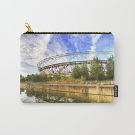 West Ham Olympic Stadium And The Arcelormittal Orbit Art Carry-All Pouch