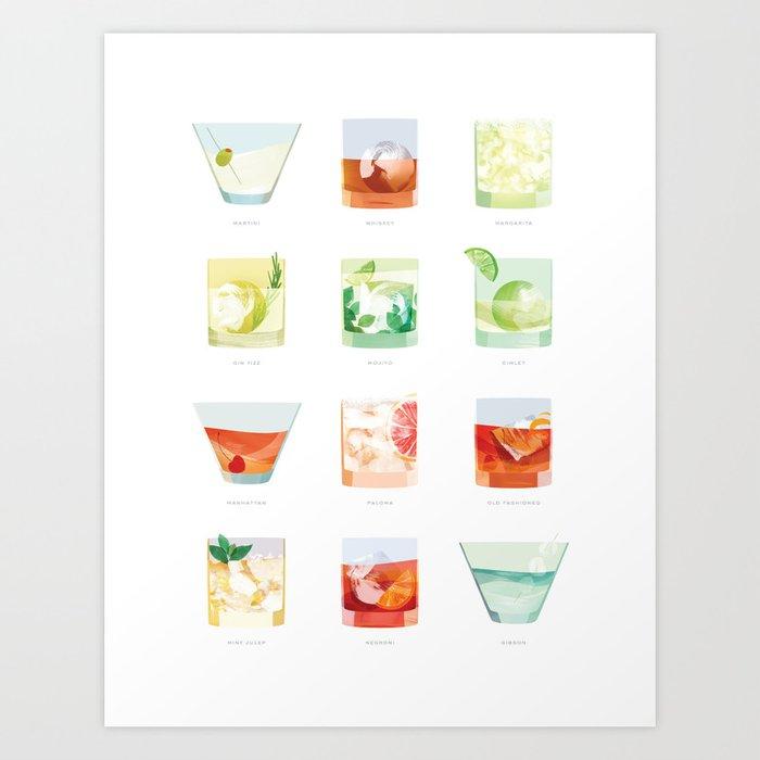 Cocktail Hour: Classic Cocktails Poster Kunstdrucke