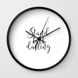 Office Wall art Office Decor Printable Wall Art Stand Tall Darling Boss Lady Girl Boss Inspirational Wall Clock