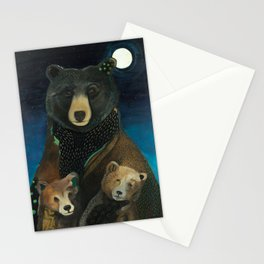 Mama Bear at Night Stationery Cards