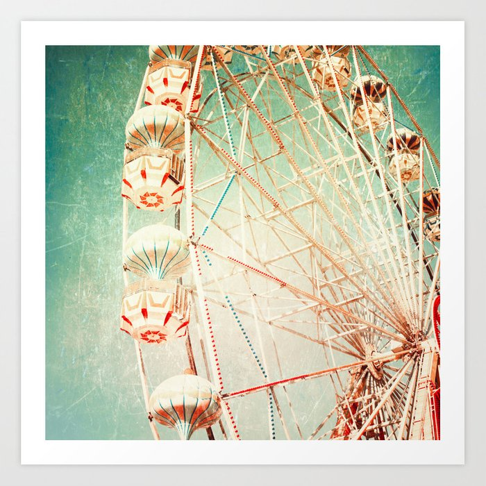 Vintage Ferris Wheel Art Print