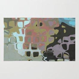 RETRO Abstract Geometric Pattern Art Mid Century Modern Design Rug