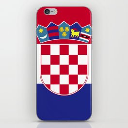 Croatia flag emblem iPhone Skin