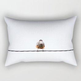 Back of a Robin Rectangular Pillow