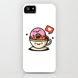 I like My Donut Dipped In Coffee iPhone Case