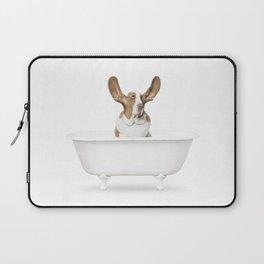 Basset Hound in Vintage Bathtub Laptop Sleeve