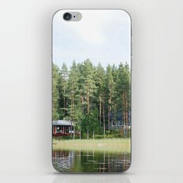 Cabin by the lake in Finland iPhone Skin