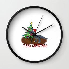 T rex christmas Wall Clock