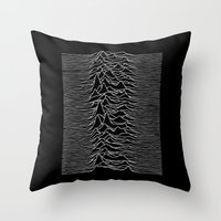joy division Throw Pillows featuring Joy Division 2 by NoHo
