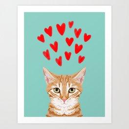 Mackenzie - Orange Tabby Cute Valentines Day Kitten Girly Retro Cat Art cell phone Art Print