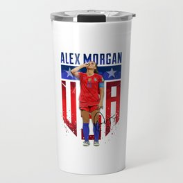 Alex Morgan Sipping Tea Travel Mug
