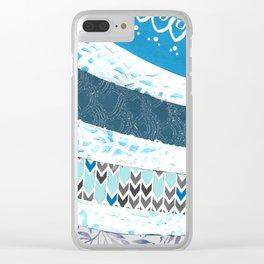Bleu Cake Clear iPhone Case