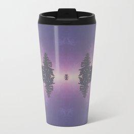 Purple Pines Metal Travel Mug