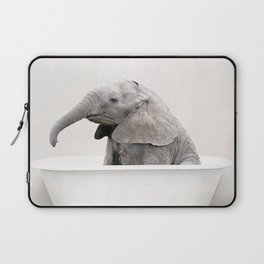 Baby Elephant in a Vintage Bathtub (c) Laptop Sleeve