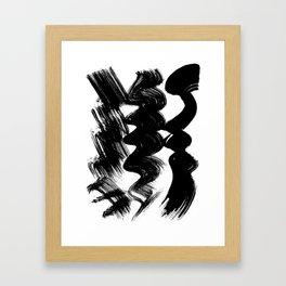 Brush stroke Framed Art Print