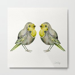 Little Yellow Birds Metal Print