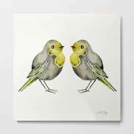 Little Yellow Birds Metal Print